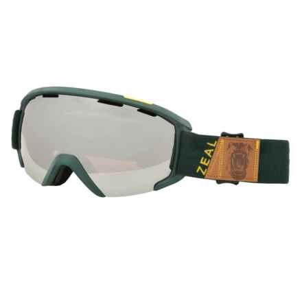 Zeal Slate Ski Goggles in Foundry Fern/Metal Mirror - Closeouts
