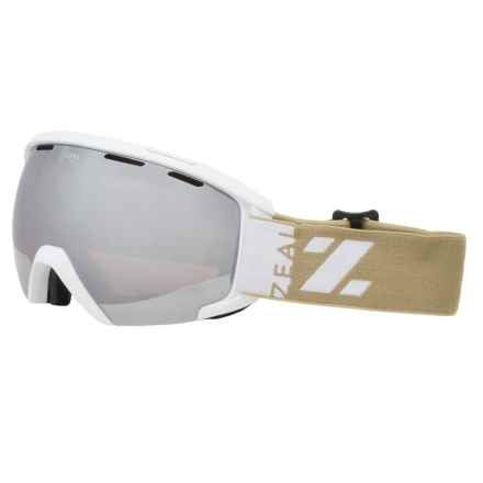 Zeal Slate Ski Goggles in Metal Mirror/Upland Wheat - Closeouts