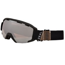 Zeal Slate Ski Goggles - Mirrored Lens in Foundry Black/Optimum Metal Mirror - Closeouts