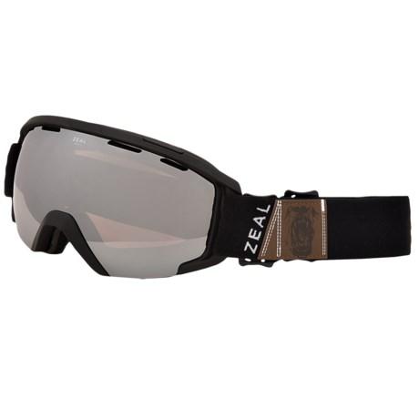 Zeal Slate Ski Goggles Mirrored Lens