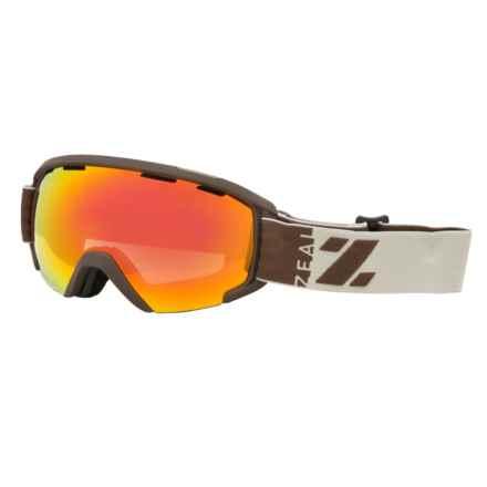 Zeal Slate Snowsport Goggles in Hayburner/Phoenix Mirror - Closeouts