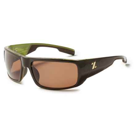 Zeal Snapshot Sunglasses in Brown Olive Gloss/Copper - Closeouts