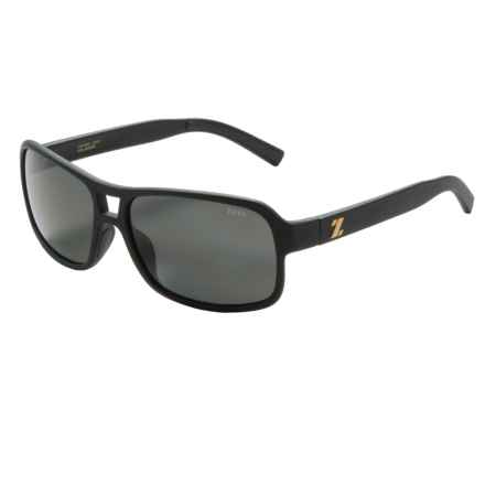 Zeal Tofino Sunglasses - Polarized in Matte Black/Dark Grey - Closeouts