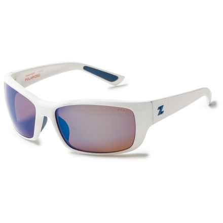 Zeal Tracker Sunglasses - Polarized, Mirrored Lenses in White River/Horizon Blue - Closeouts