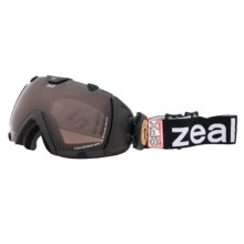 Zeal Transcend GPS Snowsport Goggles - Polarized, GPS Heads Up Display in Carbon Matte Black - Closeouts