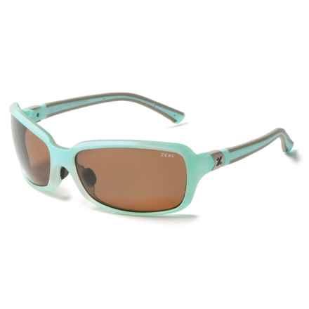 Zeal Zeta Sunglasses - Polarized in Aqua Green - Closeouts