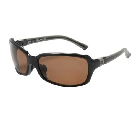 Zeal Zeta Sunglasses - Polarized in Black Gloss/Copper