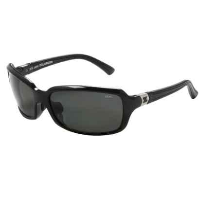Zeal Zeta Sunglasses - Polarized in Black Gloss/Dark Grey - Closeouts