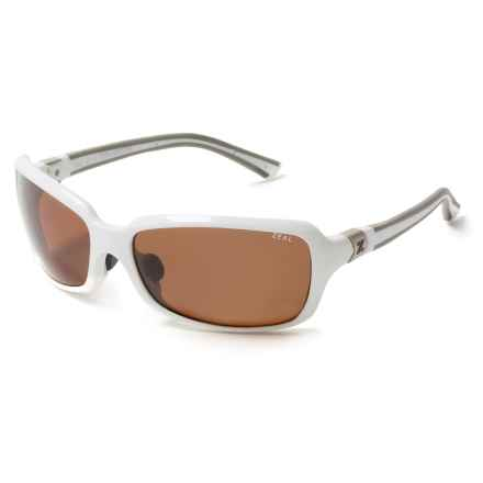 Zeal Zeta Sunglasses - Polarized in Shiny White - Closeouts