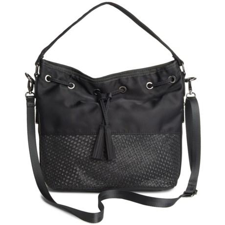 Zee Alexis Matsu Bucket Bag (For Women) in Black Metallic
