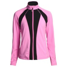 Zen 101 Multicolor Fitness Jacket (For Women) in Sherbet Pink