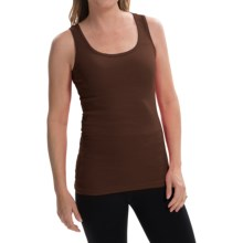 Zena Essentials Stretch Cotton Tank Top (For Women) in Brown - Closeouts