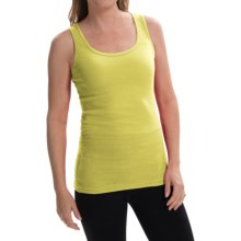 Zena Essentials Stretch Cotton Tank Top (For Women) in Green Mojito - Closeouts