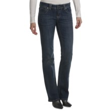 Zenim Bootcut Jeans - Mid Low Fit, Stretch Cotton (For Women) in Light Faded Wash - Closeouts