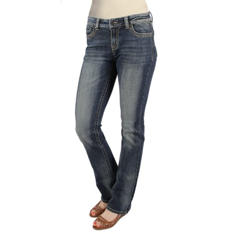 Zenim Classic 5-Pocket Denim Jeans - Bootcut Leg (For Women) in Medium Wash