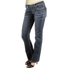 Zenim Embellished Mid-Low Jeans - Bootcut (For Women) in Denim - Closeouts