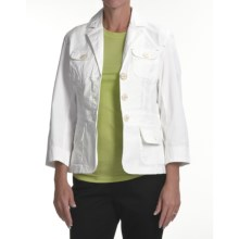 Zenim Rip Cotton Blazer (For Women) in White - Closeouts