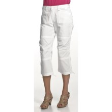 Zenim Ripstop Cotton Capris (For Women) in White - Closeouts