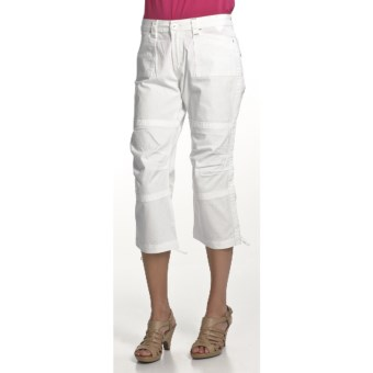 Zenim Ripstop Cotton Capris (For Women) in White