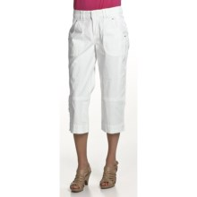 Zenim Ripstop Cotton Cargo Capris (For Women) in White - Closeouts