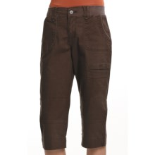 Zenim Twill Capris - Stretch Cotton (For Women) in Chocolate - Closeouts