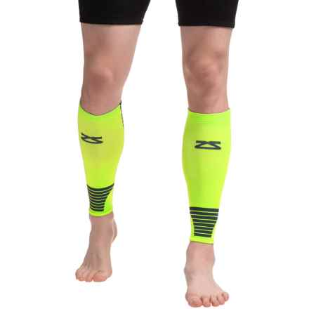 Zensah Ultra-Compression Leg Sleeves (For Men and Women) in Neon Yellow - Closeouts