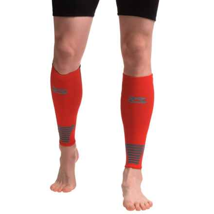 Zensah Ultra-Compression Leg Sleeves (For Men and Women) in Red - Closeouts