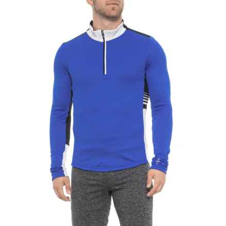 Zero Infinity Jersey Shirt - Zip Neck, Long Sleeve (For Men) in Royal/Off White - Closeouts