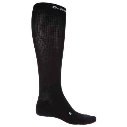 Zero Point Compression Socks - Merino Wool, Crew (For Men and Women) in Black - Closeouts