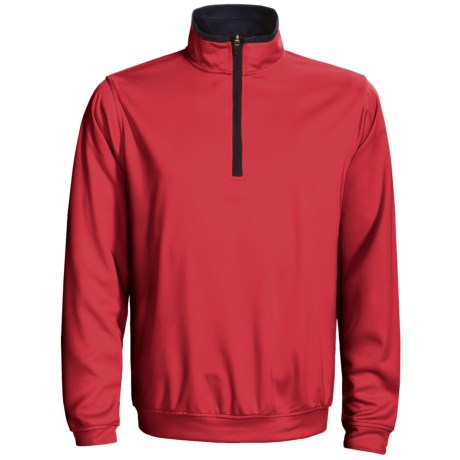 Zero Restriction Airflow Pullover - Zip Neck, Long Sleeve (For Men) in Mars Red/Navy