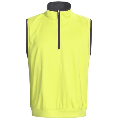 Zero Restriction Airflow Vest - Zip Neck (For Men) in Laser Green/Navy