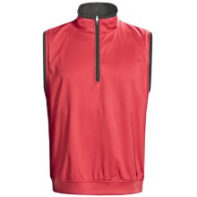 Zero Restriction Airflow Vest - Zip Neck (For Men) in Mars Red/Battleship Grey - Closeouts