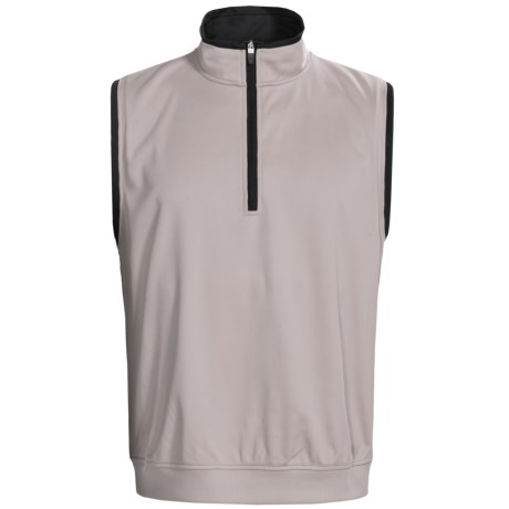 Zero Restriction Airflow Vest - Zip Neck (For Men) in Stone/Black