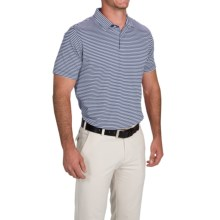 Zero Restriction Bar Stripe Polo Shirt - Short Sleeve (For Men and Big Men) in Midnight/White - Closeouts