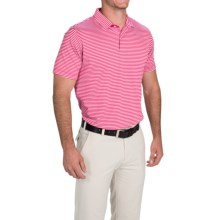 Zero Restriction Bar Stripe Polo Shirt - Short Sleeve (For Men and Big Men) in Real Red - Closeouts