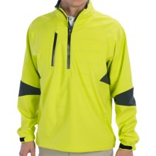 Zero Restriction Cartwright Pullover Windshirt - Zip Neck, Long Sleeve (For Men) in Chartreuse - Closeouts