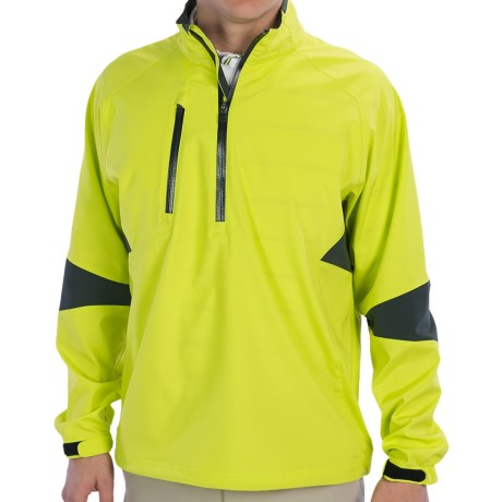 Zero Restriction Cartwright Pullover Windshirt - Zip Neck, Long Sleeve (For Men) in Chartreuse