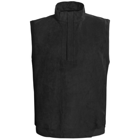 Zero Restriction Classic Microsuede Vest - Zip Neck (For Men) in Black