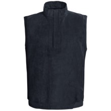 Zero Restriction Classic Microsuede Vest - Zip Neck (For Men) in Navy - Closeouts