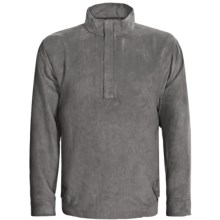 Zero Restriction Classic Microsuede Windshirt - Zip Neck (For Men) in Battleship Grey - Closeouts