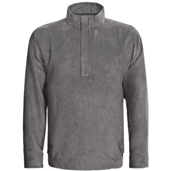 Zero Restriction Classic Microsuede Windshirt - Zip Neck (For Men) in Battleship Grey