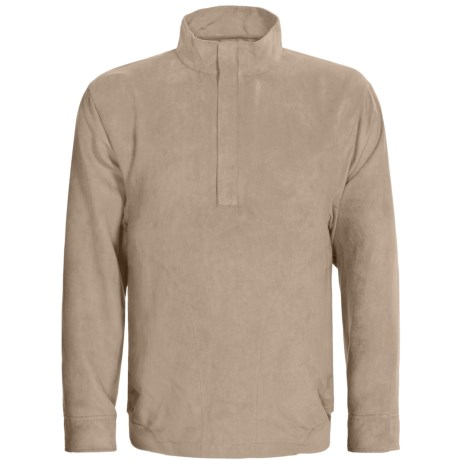 Zero Restriction Classic Microsuede Windshirt - Zip Neck (For Men) in Taupe