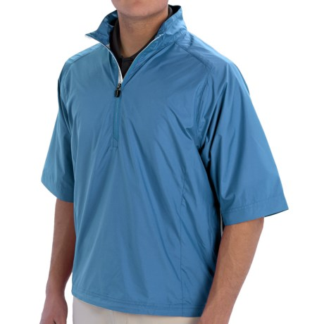 Zero Restriction Cloud Pullover Jacket Zip Neck, Short Sleeve (For Men)
