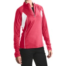 Zero Restriction Color-Block Pullover - Long Sleeve (For Women) in Coral/White - Closeouts