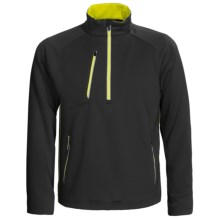 Zero Restriction Draw Pullover - Zip Neck, Textured Knit, Long Sleeve (For Men) in Black - Closeouts