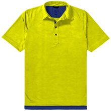 Zero Restriction Forged Polo Shirt - Short Sleeve (For Men) in Chartreuse - Closeouts