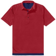 Zero Restriction Forged Polo Shirt - Short Sleeve (For Men) in Mars Red/Navy - Closeouts