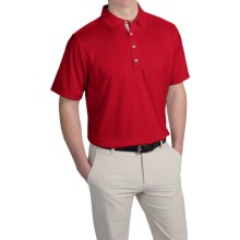 Zero Restriction Forged Polo Shirt - Short Sleeve (For Men) in Red/Light Grey - Closeouts