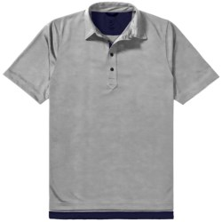 Zero Restriction Forged Polo Shirt - Short Sleeve (For Men) in Reflective Grey