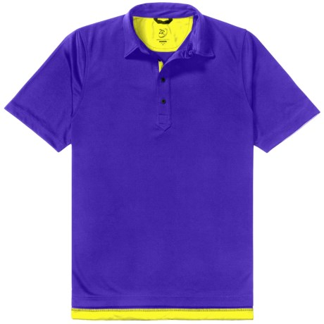 Zero Restriction Forged Polo Shirt - Short Sleeve (For Men) in Ribbon